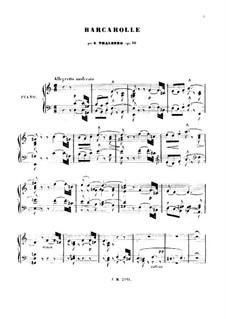 Barkarole in A-Dur, Op.60: Barkarole in A-Dur by Sigismond Thalberg