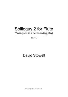 Soliloquy No.2 for Flute: Soliloquy No.2 for Flute by David Stowell