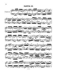 Partita für Tasteninstrument Nr.3 in a-Moll, BWV 827: Für einen Interpreten by Johann Sebastian Bach