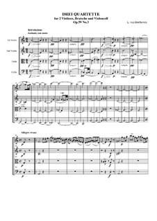 Streichquartett Nr.9 in C-Dur, Op.59 No.3: Vollpartitur by Ludwig van Beethoven