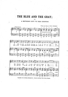 The Blue and the Gray: Klavierauszug mit Singstimmen by Paul Dresser