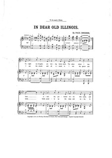 In Dear Old Illinois: In Dear Old Illinois by Paul Dresser