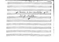 Sonate für zwei Mandolinen in A-Dur: Partitur by Emanuele Barbella