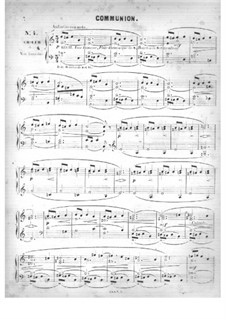 Fünfzig Stücke für Orgel, Op.24: No.4 Communion in A Minor by Edouard Batiste