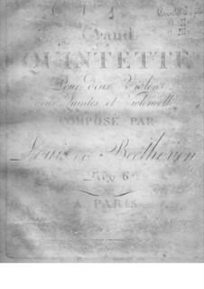 Streichquintett Nr.1 in Es-Dur, Op.4: Cellostimme by Ludwig van Beethoven