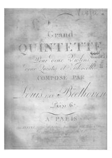 Streichquintett Nr.1 in Es-Dur, Op.4: Violasstimmen by Ludwig van Beethoven