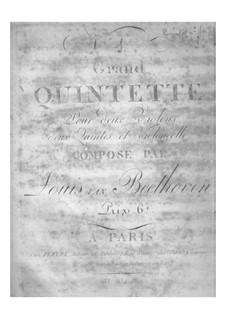 Streichquintett Nr.1 in Es-Dur, Op.4: Violinstimme by Ludwig van Beethoven