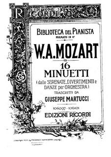 Sechzehn Menuette für Klavier: Menuette Nr.1-8 by Wolfgang Amadeus Mozart