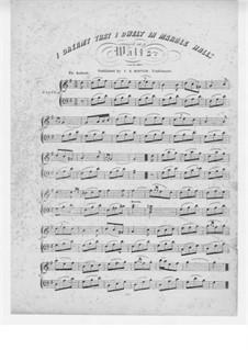 Die Zigeunerin: Akt II, I Dreamt That I Dwelt in Marble Halls, für Klavier by Michael William Balfe