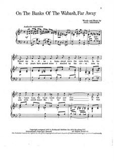 On the Banks of the Wabash Far Away: Klavierauszug mit Singstimmen by Paul Dresser