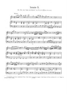 Sonate X: Sonate X by Friedrich der Große