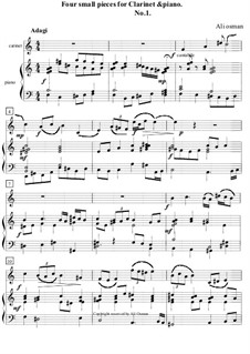 Four small pieces for clarinet and piano: Stück Nr.1 by Ali Osman