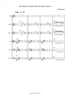 The Shepherd's song for oboe and string orchestra: First movement by Ali Osman