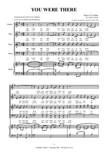 Arie: Version for organ and mixed choir by Johann Sebastian Bach