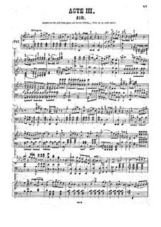 Fragmente: Akt III, für Klavier  by Wolfgang Amadeus Mozart