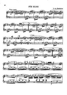 Für Elise, für Klavier, WoO 59: Mit Fingersatz by Ludwig van Beethoven