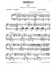 Coppelia oder Das Mädchen mit den Glasaugen: Csardas, für Klavier by Léo Delibes