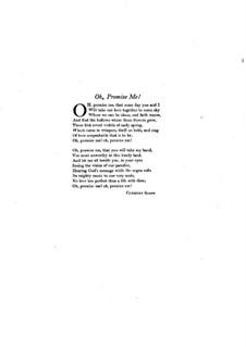Oh Promise Me, Op.50: Für Stimme und Klavier by Reginald De Koven