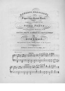 General Harrison's. Tippecanoe Grand March: General Harrison's. Tippecanoe Grand March by Henry Dielman