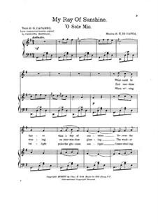 O Sole Mio: Für Stimme und Klavier by Eduardo di Capua