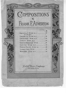 Barcarolle (By the Sea), Op.169 No.3: Barkarole (By the Sea) by Frank P. Atherton