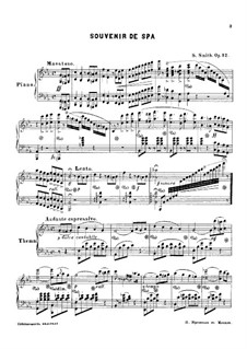 Souvenir de spa, Op.12: Souvenir de spa by Sydney Smith
