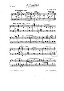 Arcadia. Intermezzo für Klavier: Arcadia. Intermezzo für Klavier by Hans Engelmann