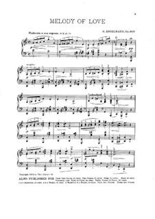 Melody of Love, Op.600: Für Klavier by Hans Engelmann