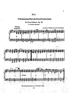 Acht Variationen über französisches Lied, D.624: Für Klavier by Franz Schubert