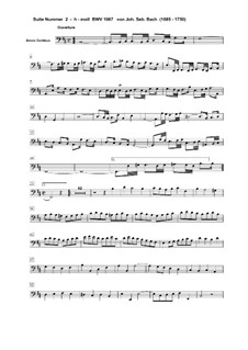 Orchestersuite Nr.2 in h-Moll, BWV 1067: Basso Continuo Stimme by Johann Sebastian Bach