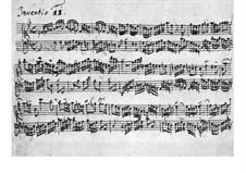 Nr.11 in g-moll, BWV 782: Für Cembalo (Manuscript) by Johann Sebastian Bach