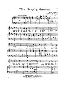 That Swaying Harmony: That Swaying Harmony by Charles Kassell Harris