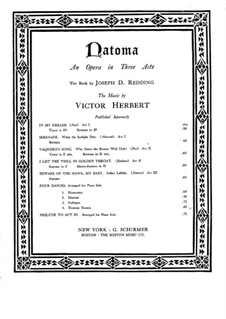 Natoma: Dagger dance, for piano by Victor Herbert