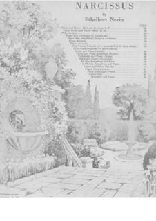 Water Scenes, Op.13: Nr.4 Narzisse (As-Dur) by Ethelbert Woodbridge Nevin