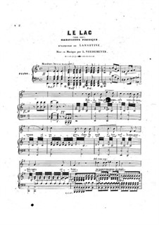 Meditation on 'Le lac' by Lamartine for Voice and Piano: G Major by Louis Niedermeyer