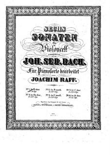 Suite für Cello Nr.1 in G-Dur, BWV 1007: Bearbeitung für Klavier by Johann Sebastian Bach