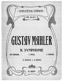 Sinfonie Nr.2 in c-Moll 'Resurrection': Für zwei Klaviere, vierhändig by Gustav Mahler