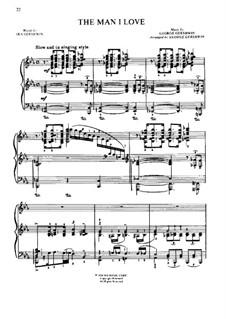 The Man I Love: Für Klavier by George Gershwin