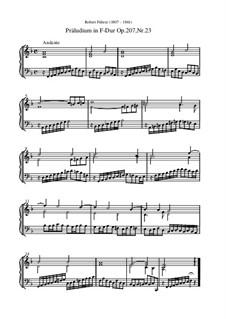 Präludium in F-Dur, Op.207 Nr.23: Präludium in F-Dur by Robert Führer