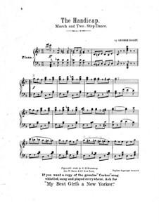 The Handicap: Für Klavier by George Rosey