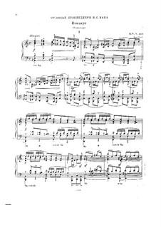 Konzert für Orgel und Orchester Nr.2 in a-Moll, BWV 593: Teile I, II . Bearbeitung für Klavier by Johann Sebastian Bach