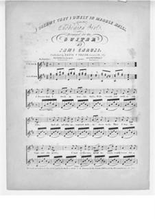 Die Zigeunerin: Akt II, I Dreamt That I Dwelt in Marble Halls, für Stimme und Gitarre by Michael William Balfe
