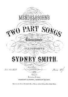 Two Part Songs, Op.141b: Two Part Songs by Felix Mendelssohn-Bartholdy
