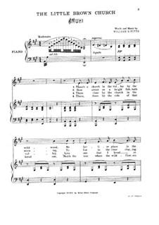 The Little Brown Church: Für Stimmen und Klavier by William S. Pitts