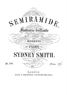 Semiramide: Fantasie, für Klavier by Gioacchino Rossini