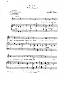 Love for Soprano (or Mezzo-Soprano) and Piano: Love for Soprano (or Mezzo-Soprano) and Piano by Frederic Woodman Root