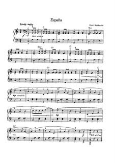 España, Op.236: Für Klavier by Emil Waldteufel