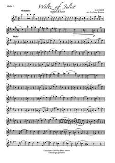 Romeo und Julia: Juliet Walzer, für Streichquartett by Charles Gounod