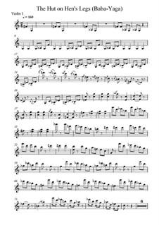 No.9 Die Hütte auf Hühnerfüssen (Baba-Jaga): Für Streichinstrumente – Stimmen by Modest Mussorgski