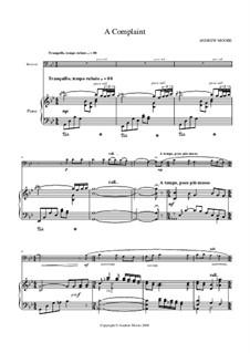 A Complaint: Für Fagott und Klavier by Andrew Moore